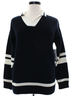1980's Womens Ralph Lauren Totally 80s Preppy Designer Sweater