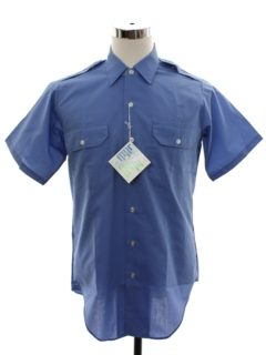 1960's Mens Mod Safari Style Uniform Work Shirt
