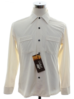 1970's Mens Solid Disco Style Sport Shirt