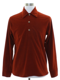 1970's Mens Velour Knit Shirt