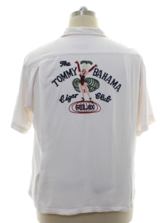 1990's Mens Tommy Bahama Cigar Club Gabardine Sport Shirt