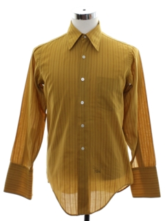 1960's Mens Mod French Cuff Shirt