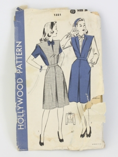 1940's Womens Sewing Pattern
