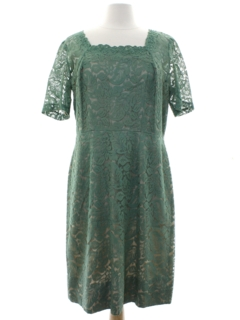 1950's Womens Neusteters Mod Lace Cocktail Dress