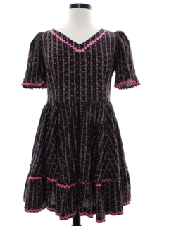 1960's Womens Square Dance Dress