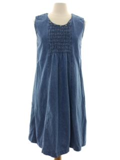 1980's Womens Totally 80s Southwestern Style Denim Dress