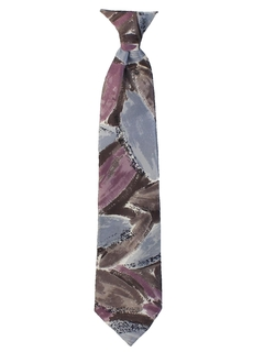 1980's Mens Totally 80s Wide Clip-on Necktie
