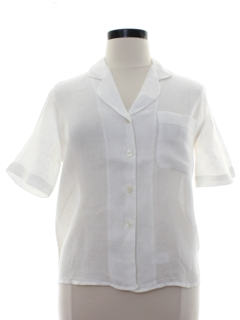 1980's Womens Rubinacci Totally 80s Designer Secretary Shirt