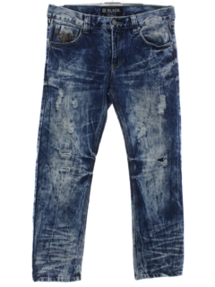 1990's Mens y2k Acid Washed Grunge Jeans Pants