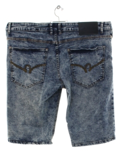 1990's Mens y2k Stretch Denim Acid Washed Shorts