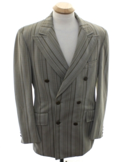 1960's Mens Mod Double Breasted Swing Style Blazer Sportcoat Jacket