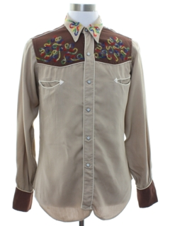 1950's Mens Rockabilly Grunge Rodeo Style Western Shirt