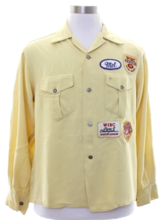 1950's Mens Rockabilly Grunge Bowling Shirt