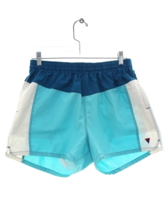 1980's Mens Totally 80s Athletic Or Swim Shorts