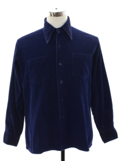 1970's Mens Corduroy Work Shirt