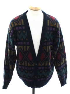 1980's Mens Cardigan Cosby Style Sweater