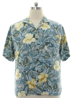 1990's Mens Tommy Bahama Silk Hawaiian Shirt
