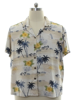 1990's Mens Havana Jacks Rayon Hawaiian Shirt