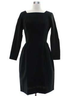 1960's Womens Black Cocktail Dress