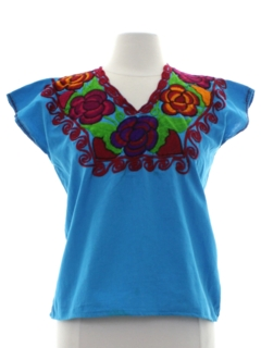 1970's Womens Guatemalan Hippie Shirt