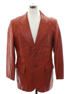 1970's Mens Mod James Franco Duece Style Leather Jacket