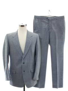 1980's Mens Blended Wool Suit