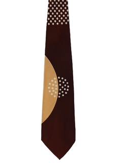1940's Mens Geometric Abstract Wide Swing Necktie