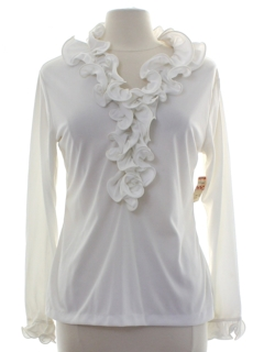 1960's Womens Mod Ruffled Shirt
