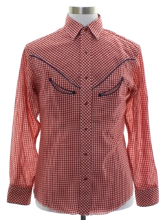 1960's Mens Rodeo Style Western Shirt
