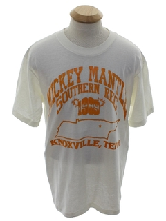 1980's Unisex Mickey Mantle Single Stitch Sports T-shirt