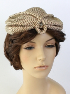 1940's Womens Accessories - Flat Hat