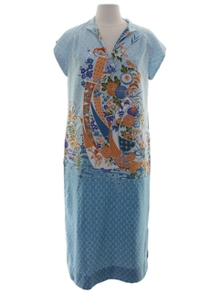 1980's Womens Maxi Lounge Dress