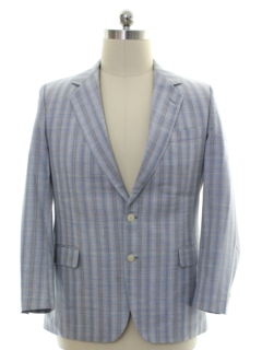 1980's Mens Plaid Blazer Style Sport Coat Jacket