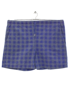 1980's Mens Totally 80s Plaid Shorts
