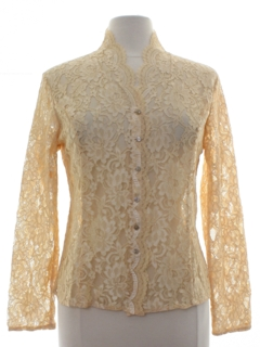 1960's Womens Mod Lace Shirt