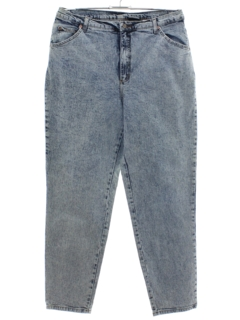 1980's Womens Acid Washed Denim Jeans Pants