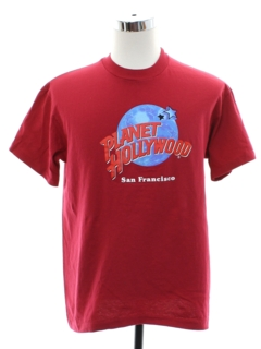 1990's Unisex Planet Hollywood San Francisco T-shirt