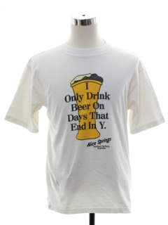 1990's Mens Alcohol Beer T-shirt