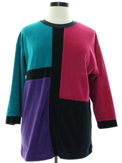 1980's Womens Velour Shirt