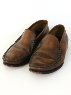 1960's Mens Accessories - Leather Loafer Shoes