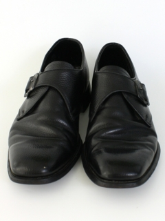 1970's Mens Accessories - Mod Leather Buckle Loafers Shoes