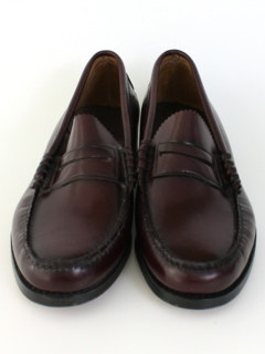 1980's Mens Accessories - Leather Penny Loafers Shoes