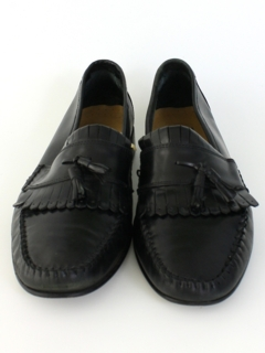 1980's Mens Accessories - Leather Loafers Shoes