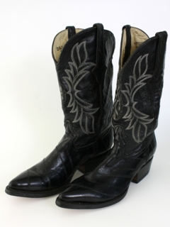 1980's Mens Accessories - Western Cowboy Boots Shoes