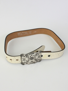 1960's Mens Accessories - Leather Western Belt
