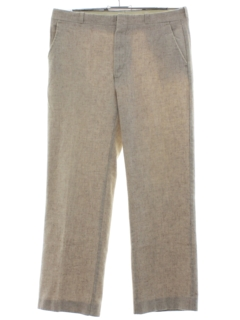 1980's Mens Totally 80s Flat Front Slacks Pants
