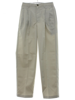 1980's Mens LL Bean Totally 80s Pleated Khaki Pants