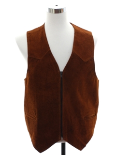 1970's Mens Suede Leather Western Vest