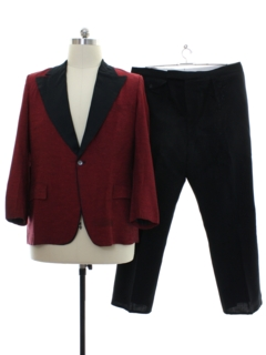 1960's Mens Mod Evening Cocktail Style Tuxedo Suit