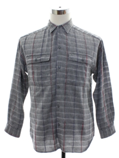 1980's Mens Totally 80s Plaid Shirt
